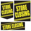 36 Pcs Super Sign Kit in.STORE CLOSINGin., Yellow on Black
