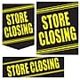 36 Pcs Super Sign Kit STORE CLOSING, Yellow