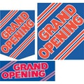 36 Pcs Super Sign Kit in.GRAND OPENINGin., Red on Blue