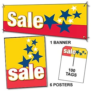 107 Pcs Driver Sign Kit in.SALEin., White on Red/Yellow