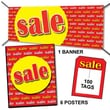 107 Pcs Driver Sign Kit in.SALEin., Yellow on Red