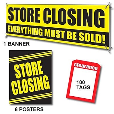 107 Pcs Sale Driver Sign Kit in.STORE CLOSINGin., Yellow on Black