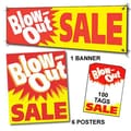 107 Pcs Sales Driver Sign Kit in.BLOW-OUT SALEin., White/Red on Yellow