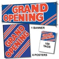 107 Pcs Sales Driver Sign Kit in.GRAND OPENINGin., Red on Blue