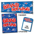 107 Pcs Jump Star Sales Driver Sign Kit in.GRAND OPENINGin., Red on Blue
