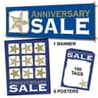 107 Pcs Sales Driver Sign Kit in.ANNIVERSARY SALEin., White/Gold on Blue