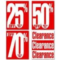 28in. x 22in. Poster Kit in.CLEARANCE AND PERCENT OFF POSTER KITin., White on Red