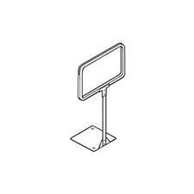 7in. x 5 1/2in. Metal Sign Frame With 8in. Stem Fixed Sign Holder, Chrome