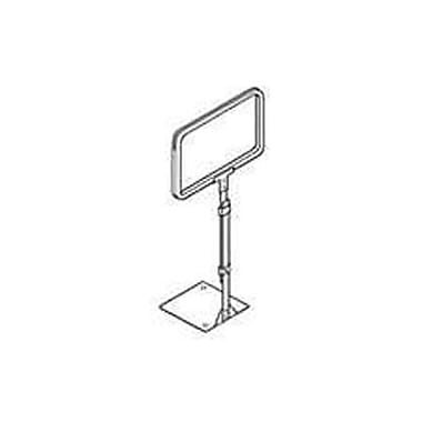11in. x 7in. Metal Sign Frame With 14in. - 22in. Stem Adjustable Sign Holder, Chrome