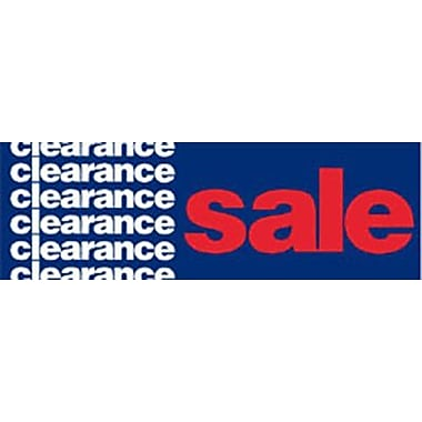 19in. x 57in. Jumbo Paper Banner in.CLEARANCE SALEin., White/Red on Blue
