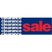 19 x 57 Jumbo Paper Banner CLEARANCE SALE, White/Red on Blue