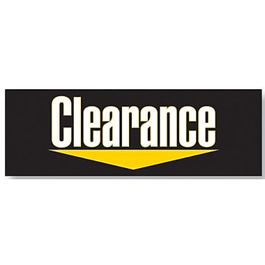 19in. x 57in. Jumbo Paper Banner in.CLEARANCEin., Yellow/White on Black
