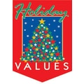 20in. x 14in. Pennants in.HOLIDAY VALUESin., White/Green on Red