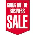 20in. x 14in. Pennants in.GOING OUT OF BUSINESS SALEin., White on Red