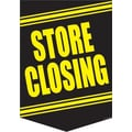 20in. x 14in. Pennants in.STORE CLOSINGin., Yellow on Black