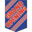 20in. x 14in. Pennants in.GRAND OPENINGin., Red on Blue