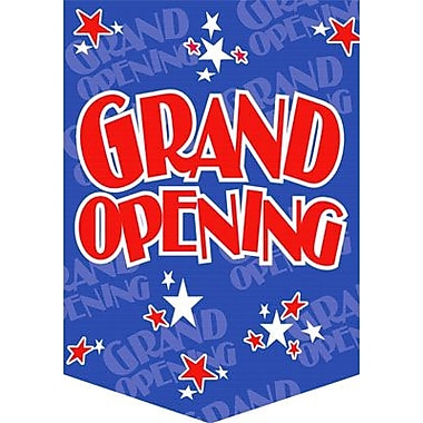 20in. x 14in. Jump Stars Pennants in.GRAND OPENINGin., Red on Blue