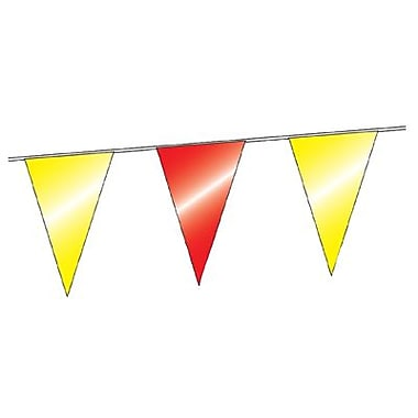 12in. x 18in. Outdoor Pennants, Red/Yellow