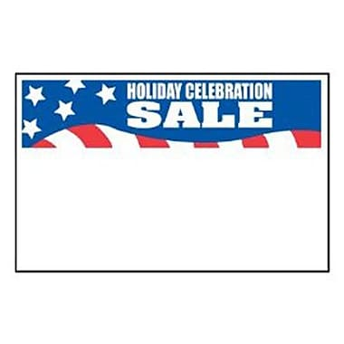 7in. x 11in. Shelf Sign in.HOLIDAY CELEBRATION SALEin., White on Blue/Red/White