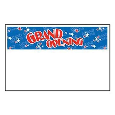 7in. x 11in. Jump Star Shelf Sign in.GRAND OPENINGin., Red on Blue