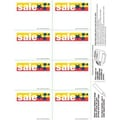 2 3/4in. x 3 1/2in. Shelf Sign in.SALEin., White on Red/Yellow