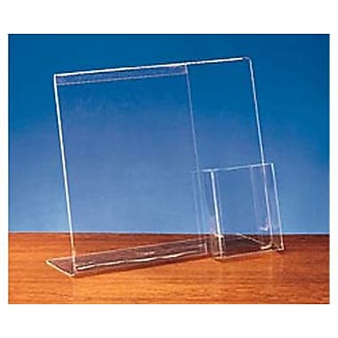 11in. x 13in. Sign Display With Literature Pocket, Crystal Clear