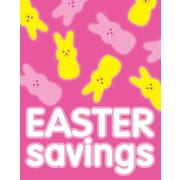 28 x 22 Standard Poster EASTER SAVINGS, White on Pink