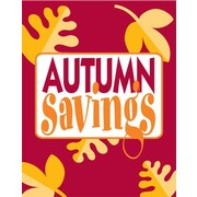 51 x 40 Super Posters AUTUMN SAVINGS, Yellow on Red
