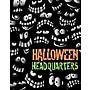28 x 22 Standard Poster HALLOWEEN HEADQUARTERS, Orange/Green