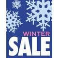 51in. x 40in. Super Posters in.WINTER SALEin., White/Pink on Blue