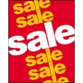51in. x 40in. Super Posters in.SALE SALE SALEin., White/Yellow on Red