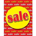 51in. x 40in. Super Posters in.SALEin., Yellow on Red