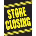 51in. x 40in. Super Posters in.STORE CLOSINGin., Yellow on Black