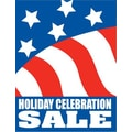 51in. x 40in. Super Posters in.HOLIDAY CELEBRATION SALEin., White on Blue/Red/White