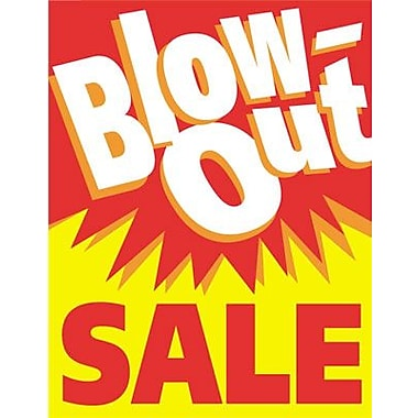 28in. x 22in. Standard Poster in.BLOW-OUT SALEin., White/Red on Yellow