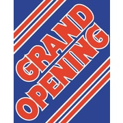 51 x 40 Super Posters GRAND OPENING, Red on Blue