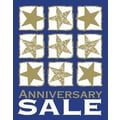 28in. x 22in. Standard Poster in.ANNIVERSARY SALEin., White/Gold on Blue