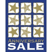 51 x 40 Super Posters ANNIVERSARY SALE, White/Gold on Blue