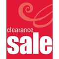 51in. x 40in. Super Posters in.CLEARANCE SALEin., White on Red