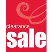 51 x 40 Super Posters CLEARANCE SALE, White on Red