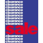 51 x 40 Super Posters CLEARANCE SALE, White/Red on Blue