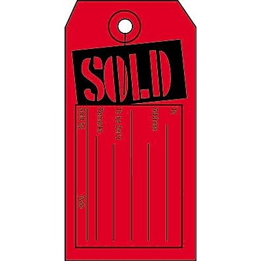 4 3/4in. x 2 1/2in. Miscellaneous Tags in.SOLDin., Black on Red