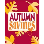 28 x 22 Standard Poster AUTUMN SAVINGS, Yellow on Red, 6/Pack