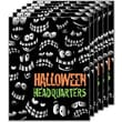 28in. x 22in. Standard Poster in.HALLOWEEN HEADQUARTERSin., Orange/Green on Black, 6/Pack