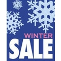 28in. x 22in. Standard Poster in.WINTER SALEin., White/Pink on Blue