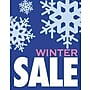 28 x 22 Standard Poster WINTER SALE, White/Pink
