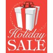 28in. x 22in. Standard Poster in.HOLIDAY SALEin., White on Red, 6/Pack
