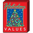 28in. x 22in. Standard Poster in.HOLIDAY VALUESin., Green/White on Red, 6/Pack