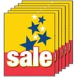 28in. x 22in. Standard Poster in.SALEin., White on Red/Yellow, 6/Pack