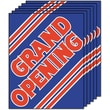 28in. x 22in. Standard Poster in.GRAND OPENINGin., Red on Blue, 6/Pack